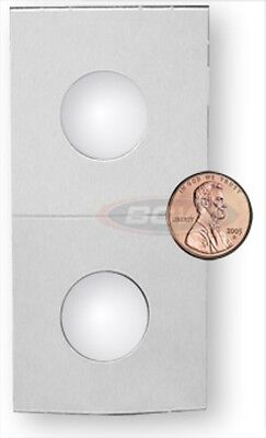 (500) PENNY SIZE 2X2 MYLAR WHITE PAPER COIN FLIP STOAGE HOLDERS