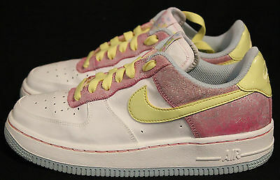Nike Air Force 1 314219-171 EASTER EGG WHITE SNEAKERS SHOES YOUTH GIRLS SZ 4.5y
