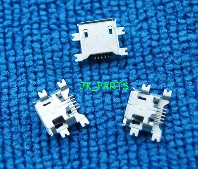 50pcs Micro USB Type B Female 5Pin Socket 4 Legs SMT SMD Soldering Connector