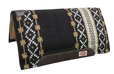 """Western Horse Wool Top Shock Absorbent Cutter Style Saddle Pad 36"""" x 34"""" TAN"""