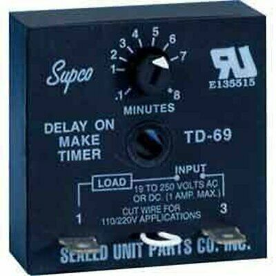 TD60 SERIES DELAY ON MAKE  Time Delays Timer SUPCO TD-69