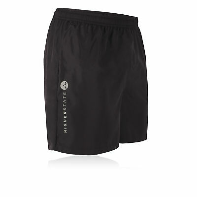 Higher State Mens Black Running 5 Inch Bottoms Breathable Lightweight Shorts New
