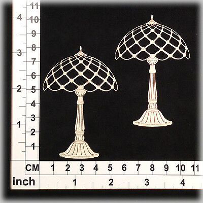 Chipboard Embellishments for Scrapbooking, Cardmaking - Table Lamps 11171w
