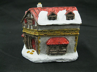 A Dickens Christmas Scrooge Counting House 1988 RSVP Vintage Miniature Cottage