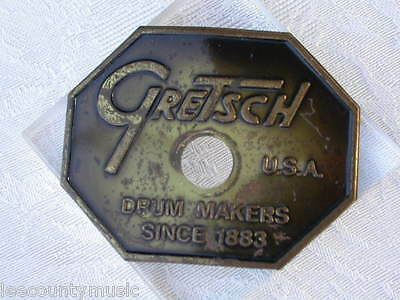 VINTAGE 1981 GRETSCH DROP G BADGE for SNARE DRUM BASS TOM FLOOR & SET LOT #R32