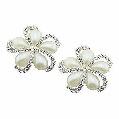 "Jewelled Shoe Clips, Shoe Jewels, Bridal Prom Shoe Accessories (1 Pair) ""Holly"""