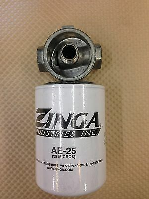 Hydraulic suction Filter 25 Micron & Head 3/4 NPT for Log Splitter & more