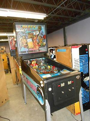 PARTY ANIMAL Pinball Machine from 1987 -  FOR A GOOD TIME CALL BALLY!