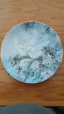 The Doves On Wings of Snow plate by Lena Liu