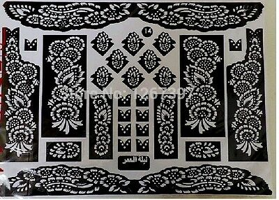 Henna Stencils Mehndi Templates Easy To Use Mixed Designs Indian Style Body Art