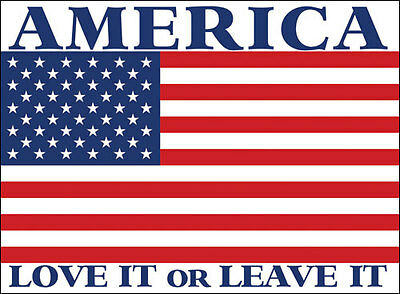 4x5 inch AMERICA Love It or Leave It Sticker - decal american proud usa us flag