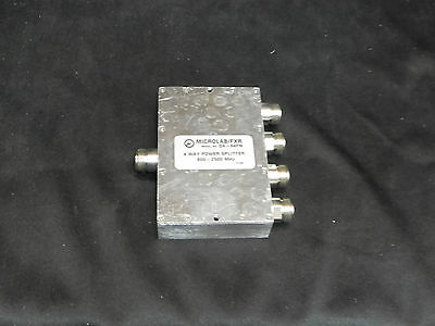 D4-64FN 800-2500 MHz, 4 OUTPUTS, 0.5 DB INSERTION LOSS (DB), N(F) POWER DIVIDERS