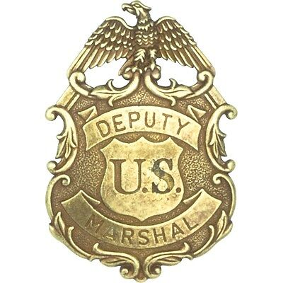 Denix Deputy United States Marshal Eagle Badge - Brass