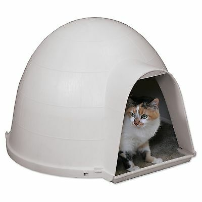 Petmate Kitty Kat Outdoor All Seasons Foam Insulated Pet Cat House Condo Mouse