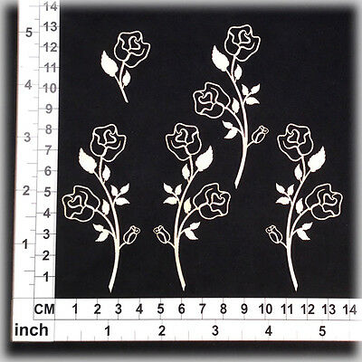 Chipboard Embellishments for Scrapbooking, Cardmaking - Roses 21202w