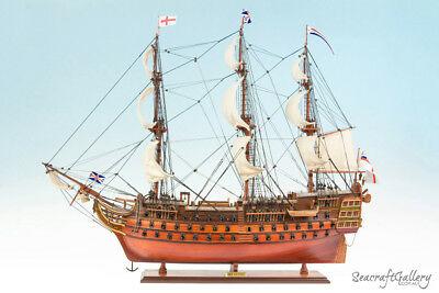 Seacraft Gallery Handcrafted Wooden Model Ship Boat Hms Victory 95Cm Great Decor