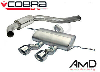 "Cobra Sport Leon Cupra R Cat Back Exhaust 3"" Resonated Stainless Steel 1P"