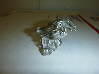 Flying Dragon with Crystal 1986 Pewter figurine small figure mini statue metal