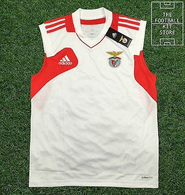 Benfica Sleeveless Training Shirt - Genuine Adidas SL Benfica Jersey - All Sizes