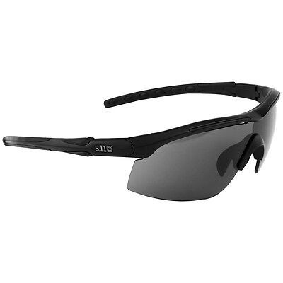 5.11 Raid Tactical Security Protective Sunglasses Black Frame + 3 Lenses & Case