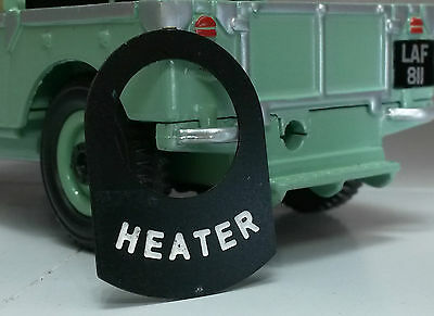 Metal Switch Tab Decal Label Badge Smiths Heater Land Rover Series 1 2 2a 2b 3