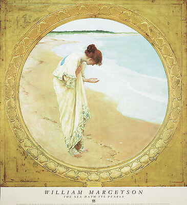 The Sea Hath Its Pearls William H. Margetson Art Print Poster 27x29.5