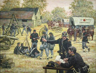 """""""Service to the Line"""" Don Stivers Signed Limited Edition Civil War Artist Proof"""