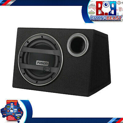 """New Fusion Black Edition En-ab1102 10"""" 750w Active Bass Pack Sub + Amp + Kit"""