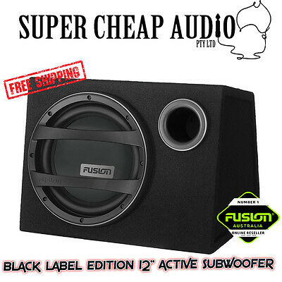 """New Fusion Black Edition  En-Ab1122 12"""" 900W Active Bass Pack Sub + Amp + Kit"""