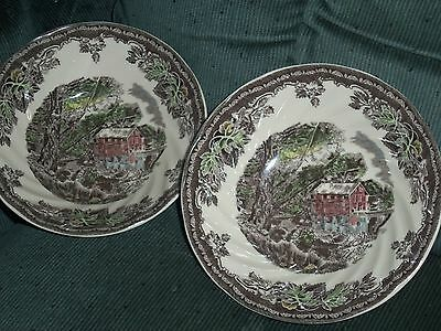 Johnson Brothers The Friendly Village Lot of 2 Cereal/Soup Bowls EC Never Used