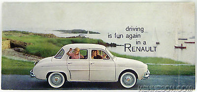 "Renault 1959 Dauphine ""Driving is Fun Again in a Renault"" Folded Sales Brochure"