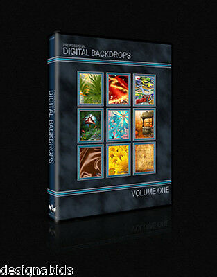 Hi-Res Digital Photography Backdrops/Backgrounds (Chromakey) DVD - 9 Categories!