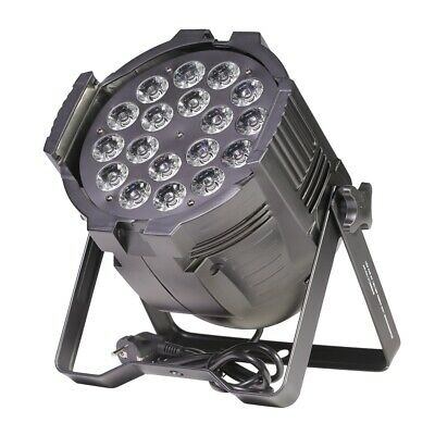 ETEC LED PAR 64 18x10W RGBWA 5in1 Scheinwerfer Floorspot Studiopar Flash Club DJ
