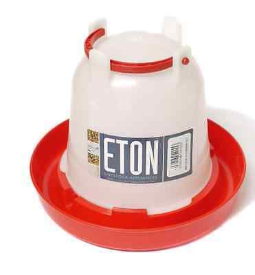 TUSK ETON RED & WHITE DRINKER (VARIOUS) chicken hen poultry fowl water container