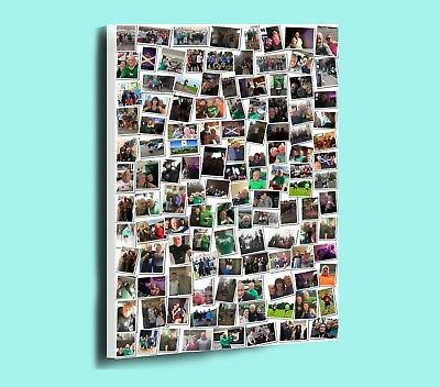 Fantastic Personalised Random Scatter Photo Collage Box Framed Canvas Print