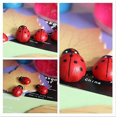Hotsell Party Decorations Wooden Ladybug Stickers Sponge Easter Decoration - CB