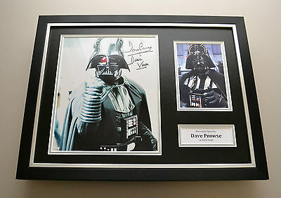 Dave Prowse Signed Framed Photo Display Star Wars Autograph Darth Vader + COA