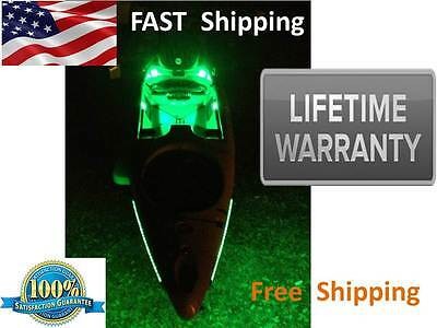 Kayak or CANOE --- Green Fishing LED Light Kit - Complete KIT -- Safety First