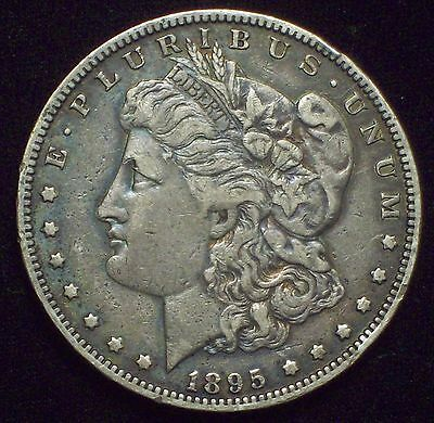 1895 O Morgan Dollar SILVER KEY DATE COIN Authentic XF Detailing $1 Coin RAINBOW