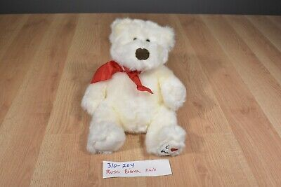 Russ Bianca the White Bear with Red Bow plush(310-204)