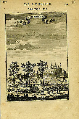 1683 Genuine Antique print of Fredericksburg.  A.M. Mallet
