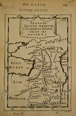 1683 Genuine Antique map ancient W. Russia. A M Mallet