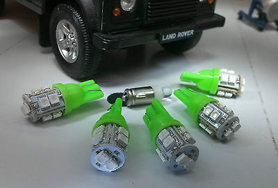 Green LED Dash/Speedo Land Rover Defender 90/110 TDI kit including Clock