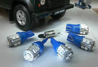 Blue LED Dash/Speedo Land Rover Defender 90/110 TDI kit including Clock