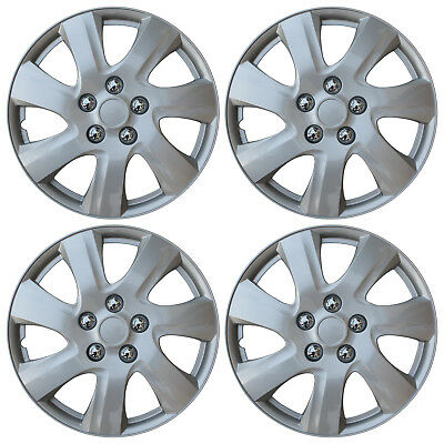 """NEW SET of 4 Hub Caps Fits TOYOTA CAMRY 15"""" Universal ABS Silver Wheel Cover Cap"""
