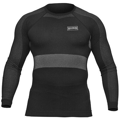 Magnum Jowisz Seamless Quick Dry Mens Base Layer Long Sleeved Thermal Top Black