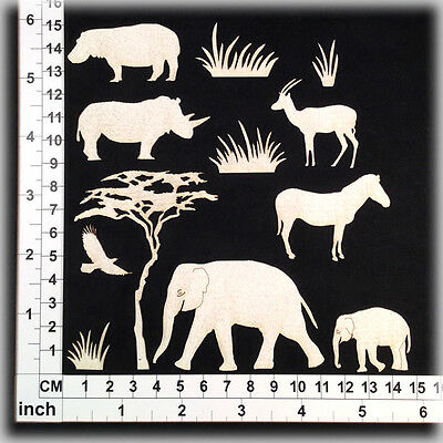 Chipboard Embellishments for Scrapbooking, Cardmaking - Africa 2 CB5134w