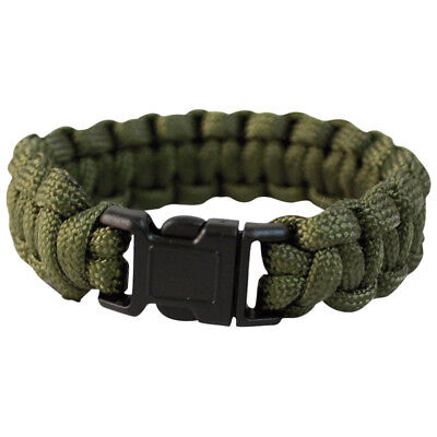 Army Tactical Paracord Wrist Band Bracelet Hiking Emergency Survival Olive 22mm