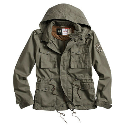 Surplus Army Jacket Military Style Coat Mens Hooded Parka Cotton Olive Od S-XXL