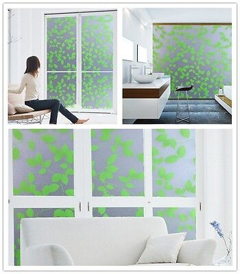 new Frosted Window Film Privacy Door Glass Tint Self Adhesive Home Decorative